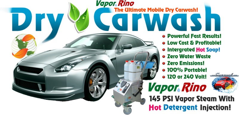 Vapor Rino Dry Car Wash 145 Psi Steam System Dry Car